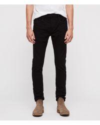 AllSaints - Cigarette Skinny Jeans, Jet Black - Lyst