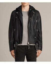 AllSaints - Stens Leather Biker Jacket - Lyst