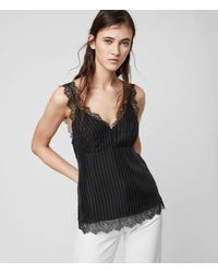 AllSaints Skylar Lace Top - Black