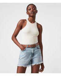 AllSaints Abigail Leather Belt - Brown