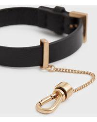 AllSaints Women's Cristi Leather Bracelet Black/warm Brass