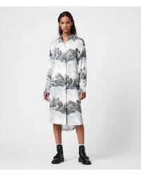 AllSaints Eleanor Illusio Dres Womens - White