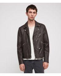 AllSaints - Holt Leather Biker Jacket - Lyst