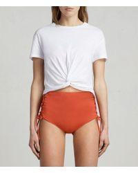 AllSaints - Lazo Highwaist Bikini Briefs - Lyst