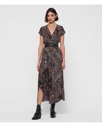 AllSaints Leila Scarf Dress - Purple