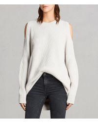 AllSaints - Lizzie Crew Sweater - Lyst