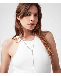 AllSaints Delicay Silver-tone Necklace - Metallic