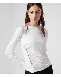 AllSaints Hatti Long Sleeve T-shirt - White
