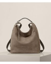 AllSaints - Cooper Leather Large Backpack - Lyst