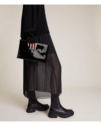 AllSaints Bettina Leather Clutch Bag - Black