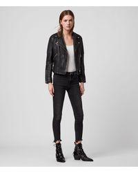 AllSaints Women's Leather Regular Fit Estella Biker Jacket - Black
