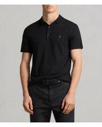 AllSaints - Mode Merino Polo Shirt - Lyst