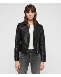 AllSaints Pataya Leather Biker Jacket - Black