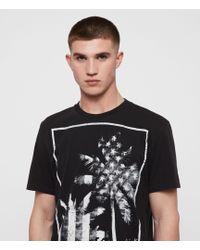 AllSaints Twilight N Stars T-Shirt Mens - Schwarz