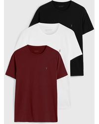 AllSaints Tonic Crew 3 Pack T-shirts - White