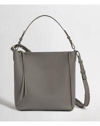 AllSaints Kita Leather Crossbody Bag - Grey