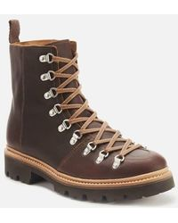 Grenson Brady Leather Hiking Style Boots - Brown