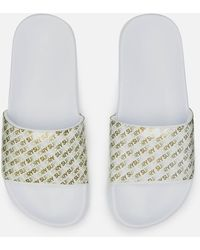 Superdry Repeat Jelly Pool Slide Sandals - White