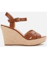 MICHAEL Michael Kors Suzette Wedge Sandals - Brown