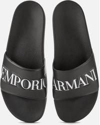 Emporio Armani Zadar Slides Black