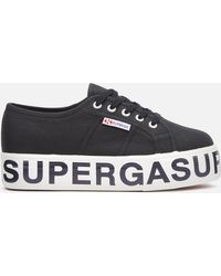 Superga 2790 Cotw Outsole Lettering Sneakers - Black
