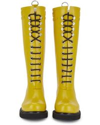 Ilse Jacobsen - Women's Lace Up Tall Rubber Boots - Lyst
