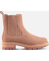 Clarks Orianna Top Nubuck Chelsea Boots - Pink