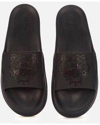 KENZO Tiger Pool Slide Sandals - Black