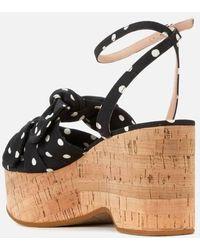 Kate Spade Julep Wedged Sandals - Black