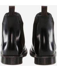 Dr. Martens Flora Polished Smooth Leather Chelsea Boots - Black