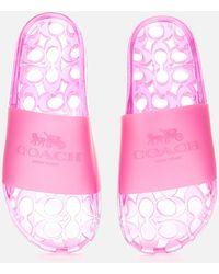COACH Ulyssa Rubber Slide Sandals - Pink