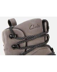 Clarks Tripath Hi Goretex Hiking Style Boots - Grey