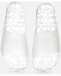 COACH Ulyssa Rubber Slide Sandals - White