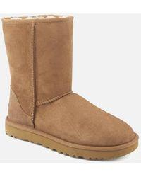 UGG Classic Short Ii Sheepskin Boots - Brown