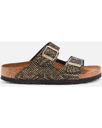 Birkenstock Shiny Python Arizona Double Strap Sandals - Metallic
