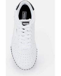PUMA Cali Perforated Leather Sneakers - White