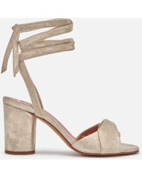 H by Hudson - Fiji Leather Heeled Sandals - Lyst