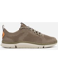 Clarks Triken Run Mesh Trainers - Green