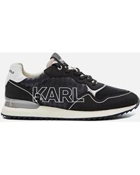Karl Lagerfeld Velocitor Ii Outline Logo Running Style Trainers - Black