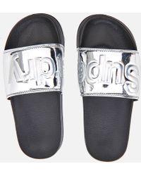 Superdry Women's Pool Slide Sandals - Metallic