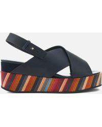 Paul Smith - Noe Swirl Flatform Sandals - Lyst
