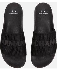 Armani Exchange - Armani Mens Mesh Sandal - Lyst