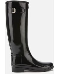 HUNTER Original Refined Gloss Tall Wellies - Black