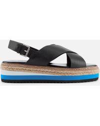 2ca6af465d3 Lyst - Steven by Steve Madden Ankle Strap Sandals - Karli Metallic ...