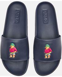 Polo Ralph Lauren Cayson Beach Bear Slide Sandals - Blue