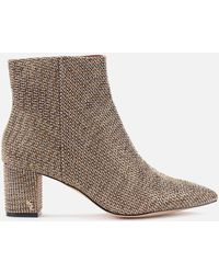 Kurt Geiger Burlington Studded Heeled Ankle Boots - Natural