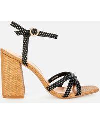 Ted Baker Kasira Block Heeled Sandals - Black