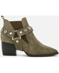 Sol Sana - Bruno Suede Western Heeled Boots - Lyst