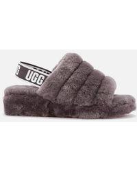 UGG Fluff Yeah Slides - Grey