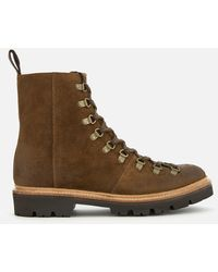 Grenson Brady Suede Hiking Style Boots - Brown